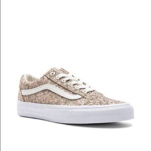 3dc2b6a41f0 Vans Shoes - Chunky Glitter Old Skool Sneaker Metallic Silver